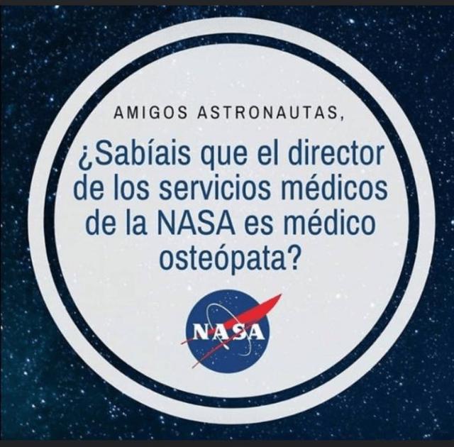 ¿Sabías que el Responsable de Sanidad de la NASA es Osteópata?